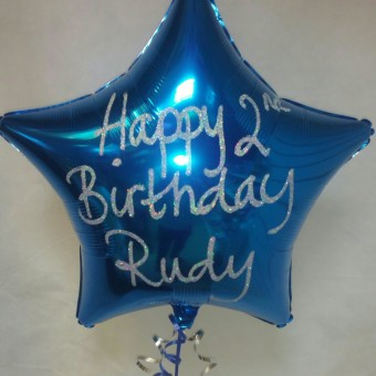 Glitter Personalised Iridescent pearl ivory Helium Filled Foil Balloon