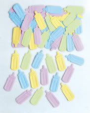 Baby Bottles Table Confetti