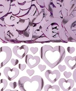 Heart Shimmer Pink Table Confetti