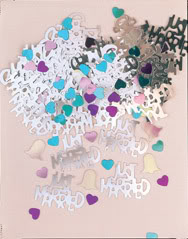 Just Married Table Confetti