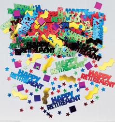 Rocking Retirement Table Confetti