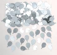 Silver Balloons Table Confetti