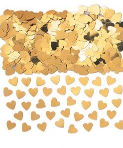 Sparkle Hearts Gold Table Confetti