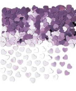Sparkle Hearts Pink Table Confetti