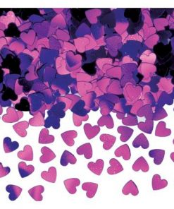 Sparkle Hearts Purple Table Confetti