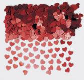 Sparkle Hearts Red Table Confetti