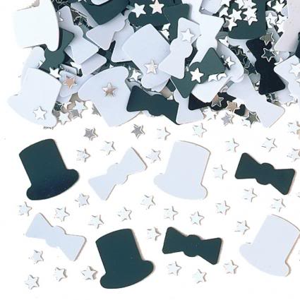 Top Hats table Confetti
