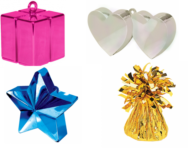 Balloon weights for balloon bouquets