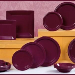 Burgundy Tableware