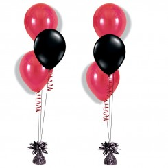 Table decoration 3 treated helium filled balloons on a weight for Balloon decoration london