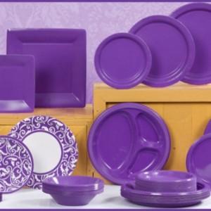 Purple Tableware