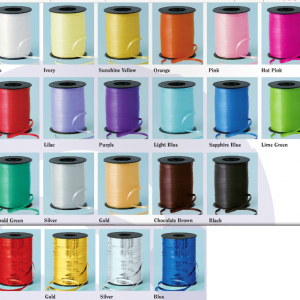 ribbon colours for helium balloons