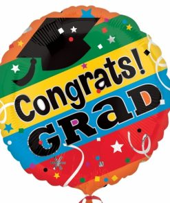 Congrats Grad letters Supershape Helium Filled Foil Balloon