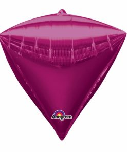 "3 Diamondz Bright Pink 17"" Helium Filled Foil Balloons"