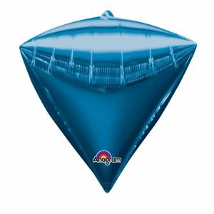 "3 Diamondz Blue 17"" Helium Filled Foil Balloons"