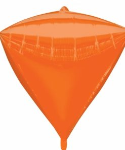 "3 Diamondz Orange 17"" Helium Filled Foil Balloons"