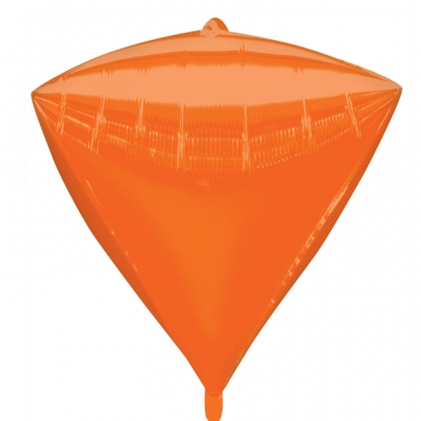 """3 Diamondz Orange 17"""" Helium Filled Foil Balloons"""