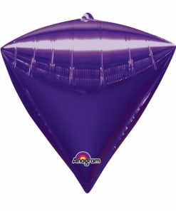 "3 Diamondz Purple 17"" Helium Filled Foil Balloons"