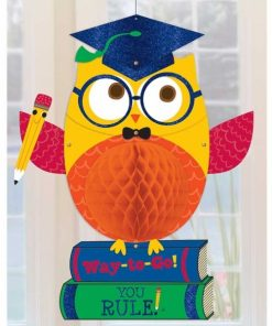 Hip Hip Hooray Grad Owl Supershape Helium Filled Foil Balloon
