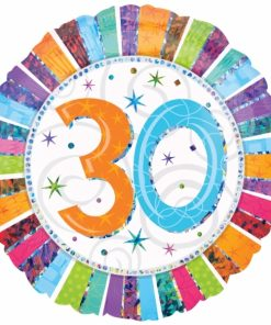 "Radiant Birthday 30th Birthday 18"" Helium Filled Foil Balloon"