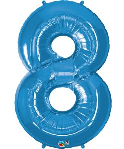 Blue foil 8 balloon.