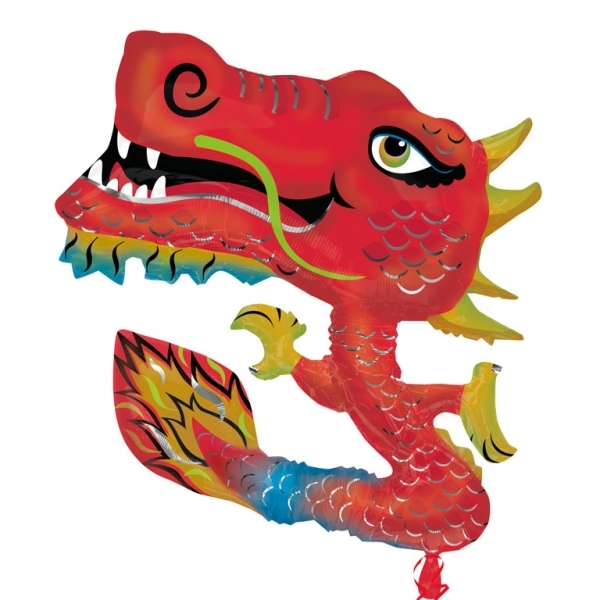 Chinese Dragon Supershape Helium Filled Foil Balloon