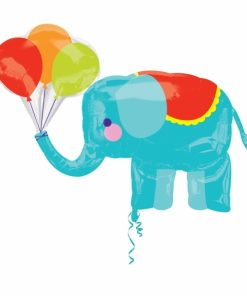 Circus Elephant Supershape Helium Filled Foil Balloon