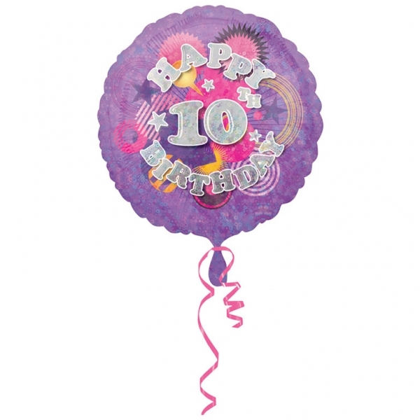 "Cool Kidz 10th Birthday 18"" Helium Filled Foil Balloon"