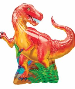 Dinosaur Party Supershape Helium Filled Foil Balloon