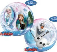Frozen helium filled foil balloon