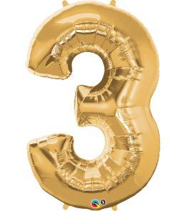 Gold foil 3 balloon.
