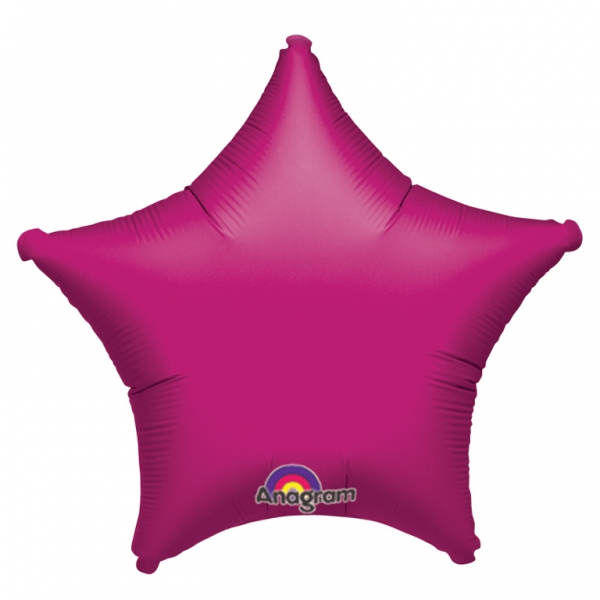 helium filled fuchsia star foil balloon order online for london delivery