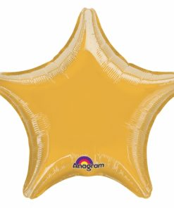 Metallic Gold star Helium Filled Foil Balloon
