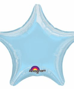 Metallic Pastel Blue Helium Filled star Foil Balloon