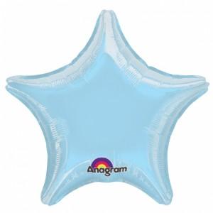 Metallic Pastel Blue Helium Filled star Foil Balloon