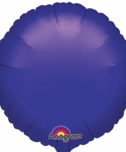 Purple helium filled circle foil balloon