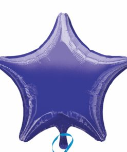 Purple helium filled star foil balloon