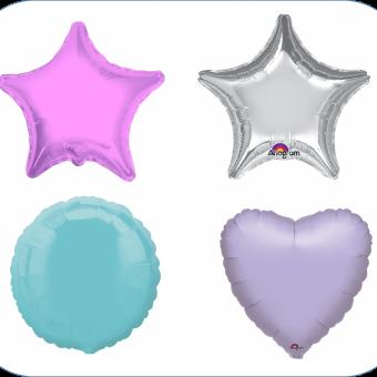 helium filled plain foil balloons
