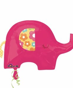 Pretty Pink Elephant Supershape Helium Filled Foil Balloon