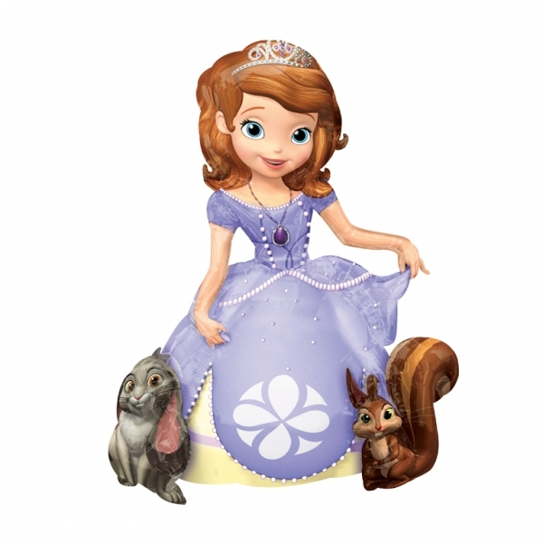 Sofia the first Helium Filled Airwalker Foil Balloon.