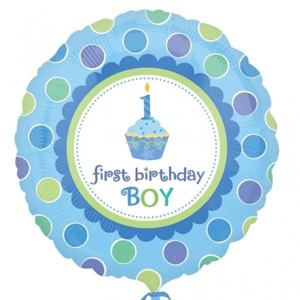 Helium filled sweet little cupcake boy Foil Balloon