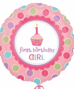 Helium filled sweet little cupcake girl Foil Balloon