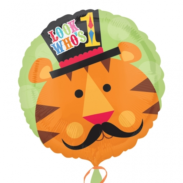 helium filled tiger 1st birthday Foil Balloon