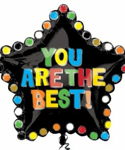 You are the best star Supershape Helium Filled Foil Balloon