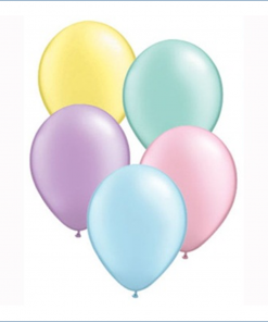 Treated Pearl Effect Helium Filled Latex Balloons