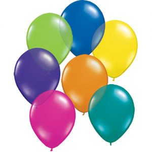 Jewel Effect Helium Filled Latex Balloons