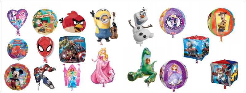 Licensed Character Balloons