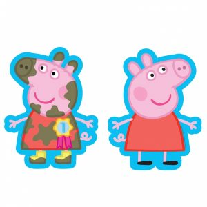 peppa pig two sided supershape