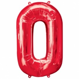 Red Helium Inflated Number Balloons