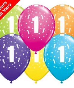 "10 1st Birthday 11"" Helium Filled Balloons"
